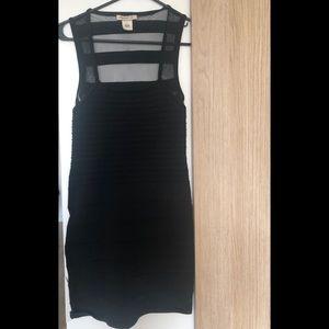 Arden B Black Bodycon Dress with mesh back